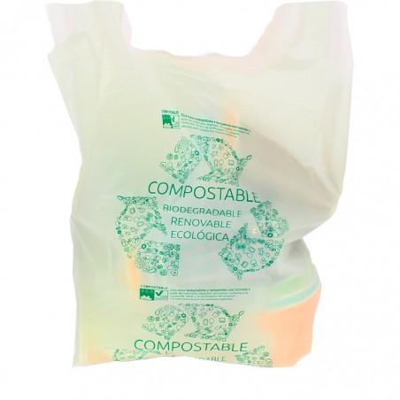 Sac à Bretelles 100% Biodégradable 40x50cm (1500 Unités)