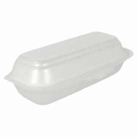 Schuim hot dog Container wit 2,10x1,05x0,64cm (125 stuks)