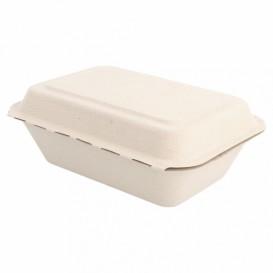 """Suikerriet Gescharnierd Container """"Menu Box"""" 13,6x18,2x6,4cm (1000 stuks)"""