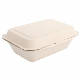 Boîte en Canne à Sucre naturel 136x182x64mm (50 Utés)