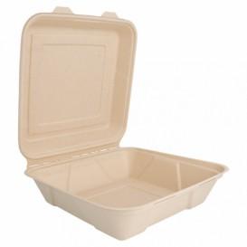 Boîte en Canne à Sucre Naturel 225x225x75mm (200 Utés)