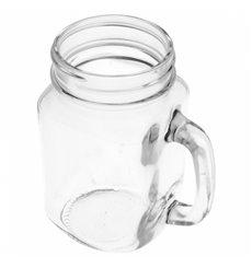 Pichet en Cristal avec Couvercle et Paille 450 ml (24 Utés)