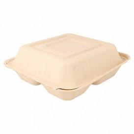 Boîte en Canne à Sucre Naturelle 3C 20x20x7,5cm (50 Utés)