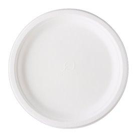 Assiette Canne à Sucre Bagasse Blanc Ø25,3 cm (500 Utés)