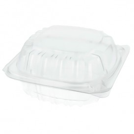 "Plastic scharnierende Deli-Container OPS ""transparant Seal"" 120ml (125 stuks)"