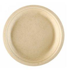 Assiette en Canne à Sucre Naturel Ø180mm (50 Unités)