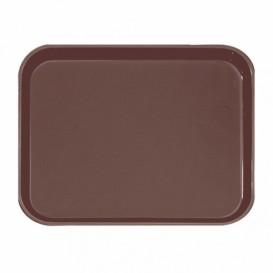 Plastic dienblad Non-Slip bruin 51,0x38,0cm (1 stuk)