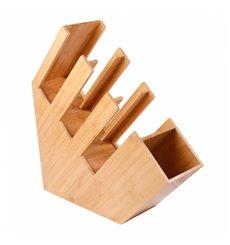 Organisateur de Gobelet, Paille et Couvercle de Bambou 14x50x50cm (1 Uté)