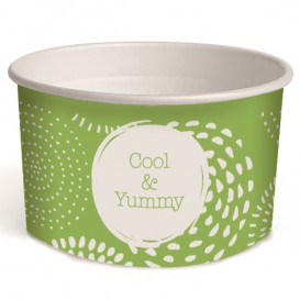 Pot à glace en carton 3oz/100 ml Cool&Yummy (65 Unités)