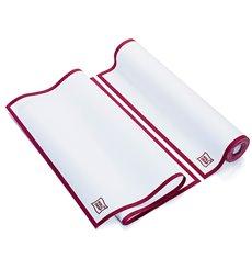 """Torchons """"Roll Drap"""" avec Bandes Bordeaux 40x64cm P40cm (10 Utés)"""
