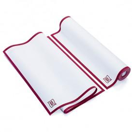 """Torchons """"Roll Drap"""" avec Bandes Bordeaux 40x64cm P64cm (200 Utés)"""