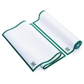 """Torchons """"Roll Drap"""" avec Bandes Vertes 40x64cm P64cm (10 Utés)"""