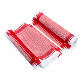 """Torchons """"Roll Drap"""" Vintage Rouge 40x64cm P64cm (200 Utés)"""