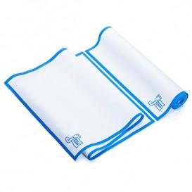 """Torchons """"Roll Drap"""" avec Bande Bleue 40x80cm P80cm (8 Utés)"""