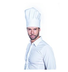 Toque Cuisinier Chef Coton Blanc (25 unités)
