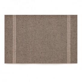 """Katoenen placemat """"Daen Drap"""" donker bruin 32x45cm (72 stuks)"""
