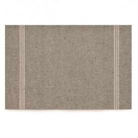 """Katoenen placemat """"Daen Drap"""" grijs-groen 32x45cm (12 stuks)"""
