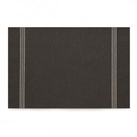 "Katoenen placemat ""Daen Drap"" zwart 32x45cm (12 stuks)"