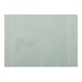 """Katoenen placemat """"Daen Drap"""" parel grijs 32x45cm (12 stuks)"""