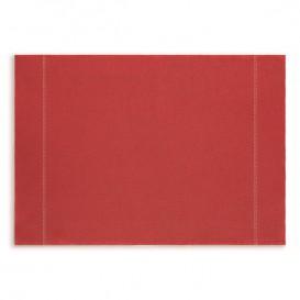 "Katoenen placemat ""Daen Drap"" rood 32x45cm (12 stuks)"