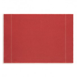 "Katoenen placemat ""Daen Drap"" rood 32x45cm (72 stuks)"