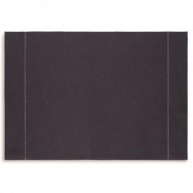 "Katoenen placemat ""Daen Drap"" donker blauw 32x45cm (12 stuks)"