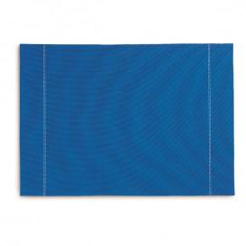 "Katoenen placemat ""Daen Drap"" Roenal blauw 32x45cm (12 stuks)"