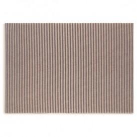 "Katoenen placemat ""Daen Drap"" blauw Line 32x45cm (12 stuks)"