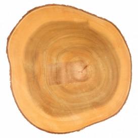 Houten bediening schotel Rond vormig Ø23x3,5cm (6 stuks)