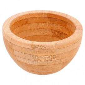 Bamboe wegwerp mini kom Ø8x4,2cm (1 stuk)