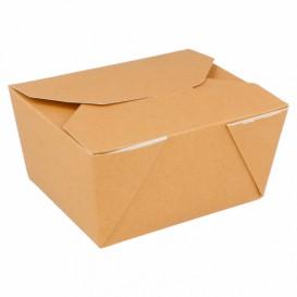 "Papieren take-out Container ""American"" Naturel 11,3x9x6,4cm 780ml (50 stuks)"