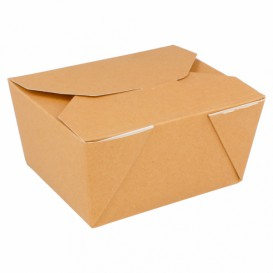 """Papieren take-out Container """"American"""" Naturel 1,13x0,90x0,64cm 780ml (450 eenheden)"""