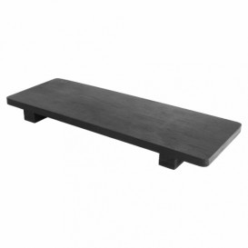 Base en Bambou Noir pour Sushi 30x11x2,5cm (40 Utés)