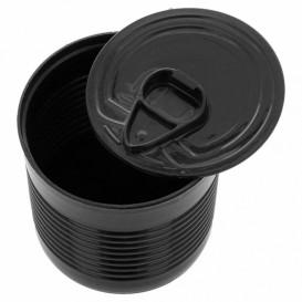 Boîte de Conserve Noire PS 110ml Ø6x5,7cm (25 Utés)