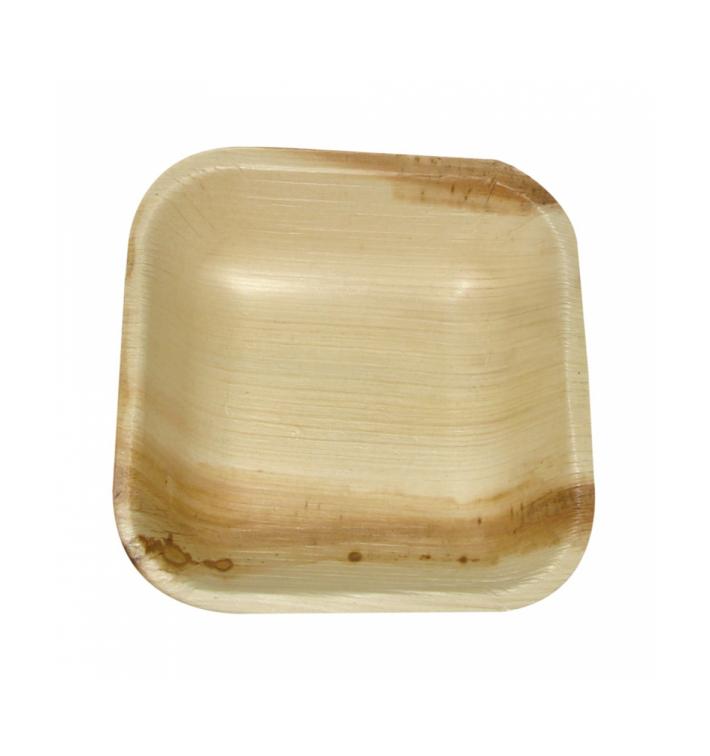 Mini Assiette Feuilles Palmier 10x10x2,5cm (25 Unités)