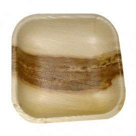 Palm blad mini bord Vierkant 11,5x11,5x1,5cm (25 stuks)