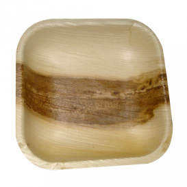 Palm blad mini bord Vierkant 11,5x11,5x1,5cm (200 stuks)