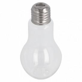 Plastic fles met Deksel lamp design PET transparant 100ml (25 stuks)