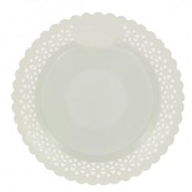 Assiette en Carton Ronde Dentelle Blanc 23 cm (100 Utés)