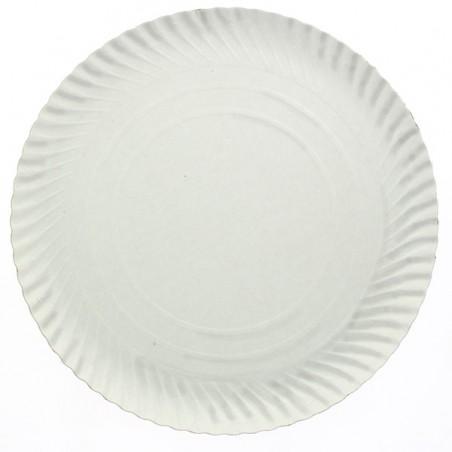 Assiette en Carton Ronde Blanc 320 mm (50 Unités)