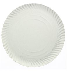 Assiette en Carton Ronde Blanc 100 mm 450g/m2 (100 Unités)