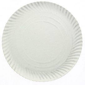 Papieren bord Rond vormig wit 25cm 600g/m2 (100 stuks)