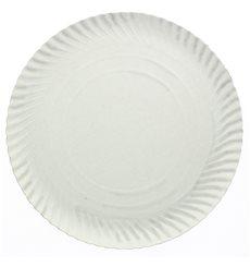 Assiette en Carton Ronde Blanc 180 mm 500g/m2 (100 Unités)