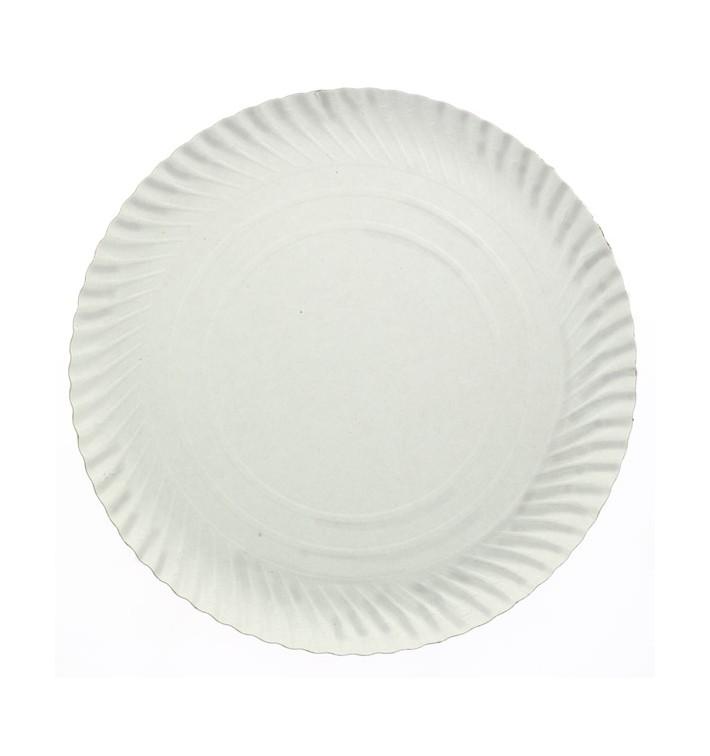 Assiette en Carton Ronde Blanc 300 mm (100 Unités)
