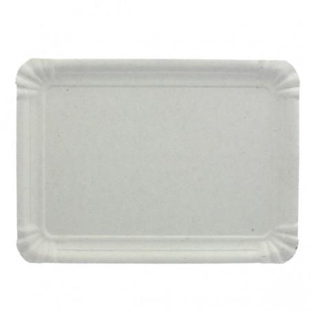 Plat rectangulaire en Carton Blanc 22x28 cm (100 Utés)