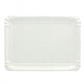 Plat rectangulaire en Carton Blanc 20x27 cm (100 Unités)