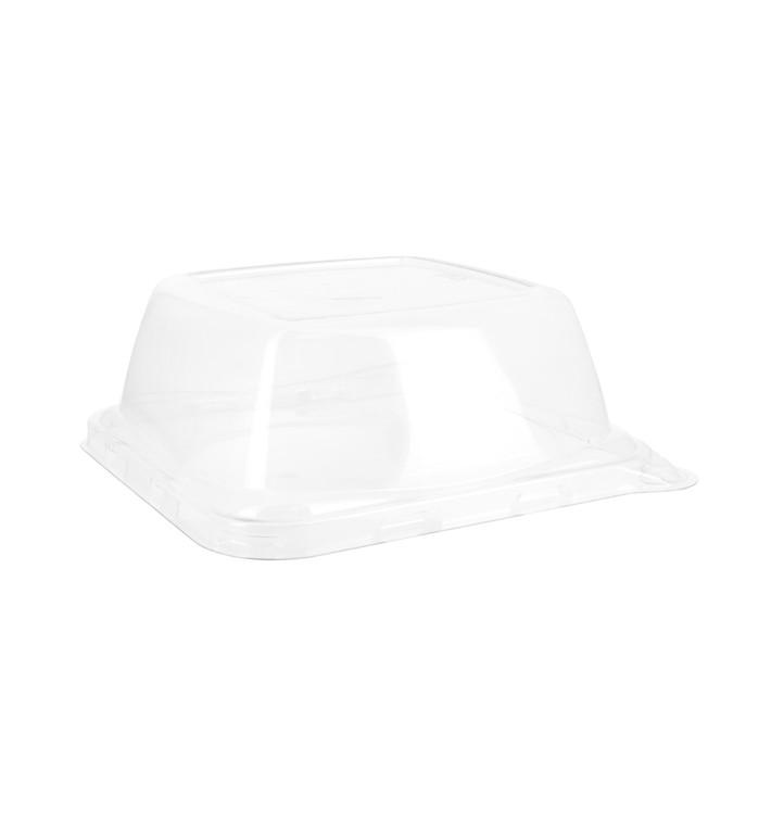 Plastic Deksel voor Suikerriet Voedsel Container 14x14x5,5cm (300 eenheden)