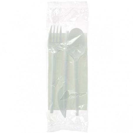 Kit Fourchette, Cuillère, Couteau, Serviette (25 Utés)