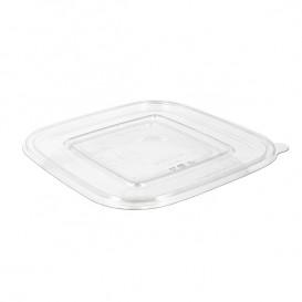 Couvercle Plat pour Bol Plastique PET 120x120mm (100 Utés)