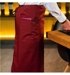 Tablier Français avec 2 poches Bordeaux 90x110cm (20 Utés)